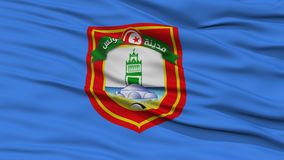 Closeup Tunis City Flag, Tunis. Closeup Tunis City Flag, Capital City of Tunis, Waving in the Wind Royalty Free Stock Photo
