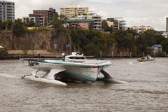 Closeup Turanor arriving into Brisbane River Stock Images
