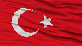Closeup Turkey Flag. Waving in the Wind, High Resolution royalty free stock image