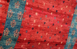 Closeup Turkish Carpet Stock Photo