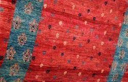 Closeup Turkish Carpet. Closeup image of thin Turkish-made carpet Stock Photo