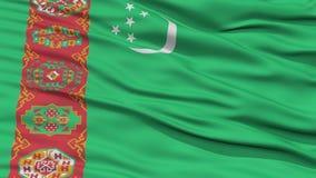 Closeup Turkmenistan Flag Royalty Free Stock Photos
