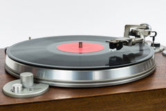 Closeup of turntable with vinyl record Stock Photography