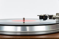 Closeup of turntable with vinyl record Stock Images