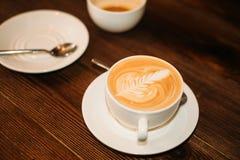 Closeup två koppar kaffe Royaltyfri Fotografi