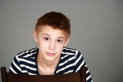 Closeup of tween boy Stock Photography