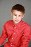Closeup of tween boy Royalty Free Stock Image