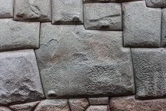 The twelve sided stone, Cusco, Peru royalty free stock photo