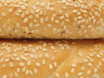 Closeup of two bagels with sesame seeds Royalty Free Stock Photos