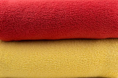 Closeup of two blankets Royalty Free Stock Image
