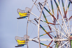 Closeup of two ferris wheel cars Stock Images