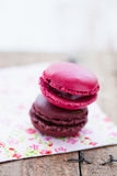 Two macaroons Stock Image