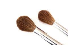 Closeup of two paintbrushes Stock Photos