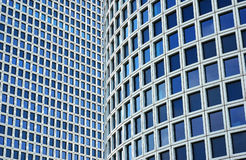 Closeup on two skyscrapers. Azriely center-Tel-Aviv royalty free stock image
