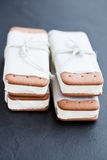 Ice cream biscuits Stock Photos