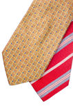 Closeup of two ties Royalty Free Stock Image