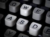 Closeup of typewriter keyboard, WASD highlighted Stock Images