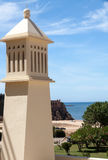 Closeup of a typical chimney in Algarve Stock Images