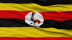 Closeup Uganda Flag Royalty Free Stock Image
