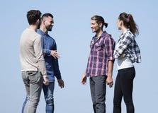 closeup un gruppo di riusciti giovani Immagini Stock