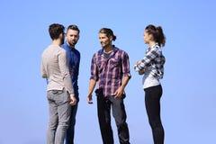 closeup un gruppo di riusciti giovani Fotografie Stock