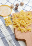 Closeup of uncooked italian pasta Royalty Free Stock Photos