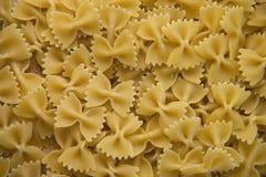 Closeup of uncooked italian pasta - farfalle Stock Images