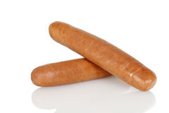 Closeup of uncooked sausages Royalty Free Stock Image