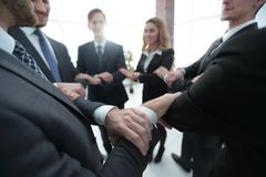 Closeup. unified business team . The concept of teamwork Royalty Free Stock Image
