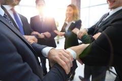 Closeup. unified business team . The concept of teamwork Stock Photos