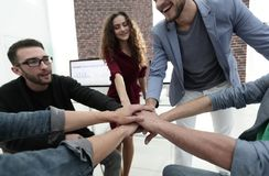 Closeup.unified business team. The concept of teamwork Royalty Free Stock Image