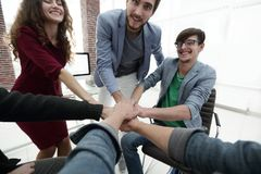 Closeup.unified business team. The concept of teamwork Stock Photography
