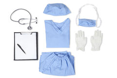 Closeup of uniform for surgeon Royalty Free Stock Photography