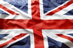 British flag. Closeup of Union Jack flag Royalty Free Stock Images