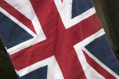 Closeup of Union Jack Flag royalty free stock photos