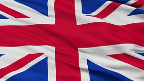 Closeup United Kingdom city flag, UK. United Kingdom closeup flag, city of UK, realistic animation seamless loop - 10 seconds long stock video footage