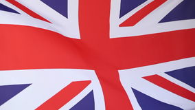 Closeup of a United Kingdom flag. Moving in the wind stock footage