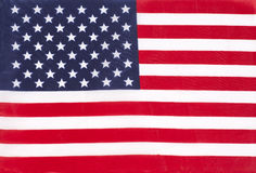 Closeup of United States of America flag Stock Images