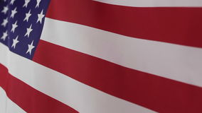 Closeup of United States flag stock video footage