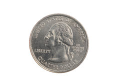 Closeup of United States Quarter Coin Heads Stock Photos