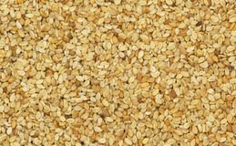 Closeup of untreated sesame seeds Stock Photo