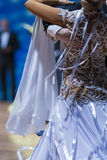 Closeup up of Back of the Professional Female Dancer in Beautifu Royalty Free Stock Photos