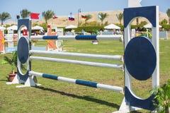 Closeup up an equestrian showjumping hurdle Stock Image