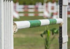 Closeup up an equestrian showjumping hurdle Royalty Free Stock Photos