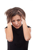 Closeup of upset young woman Stock Image