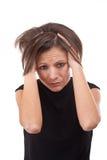 Closeup of upset young woman Stock Image