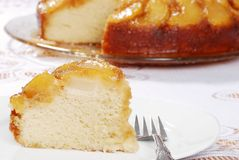 Closeup upside down pear cake Stock Photo