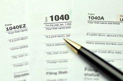 Closeup of us tax forms Stock Images