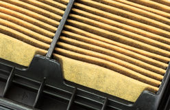 Closeup of a Used Air Filter Cartridge. Showing Dirty element Royalty Free Stock Photography