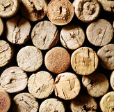 Closeup of used wine corks Royalty Free Stock Image